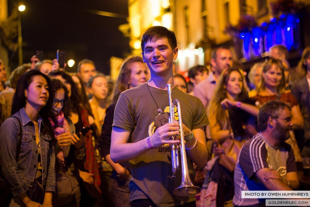 Booka Brass Band at the Roisin Dubh – Galway Arts Festival by Owen Humphreys (22 of 26)