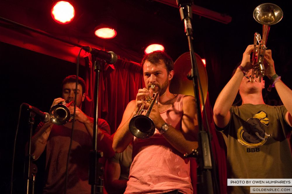 Booka Brass Band at the Roisin Dubh – Galway Arts Festival by Owen Humphreys (4 of 26)