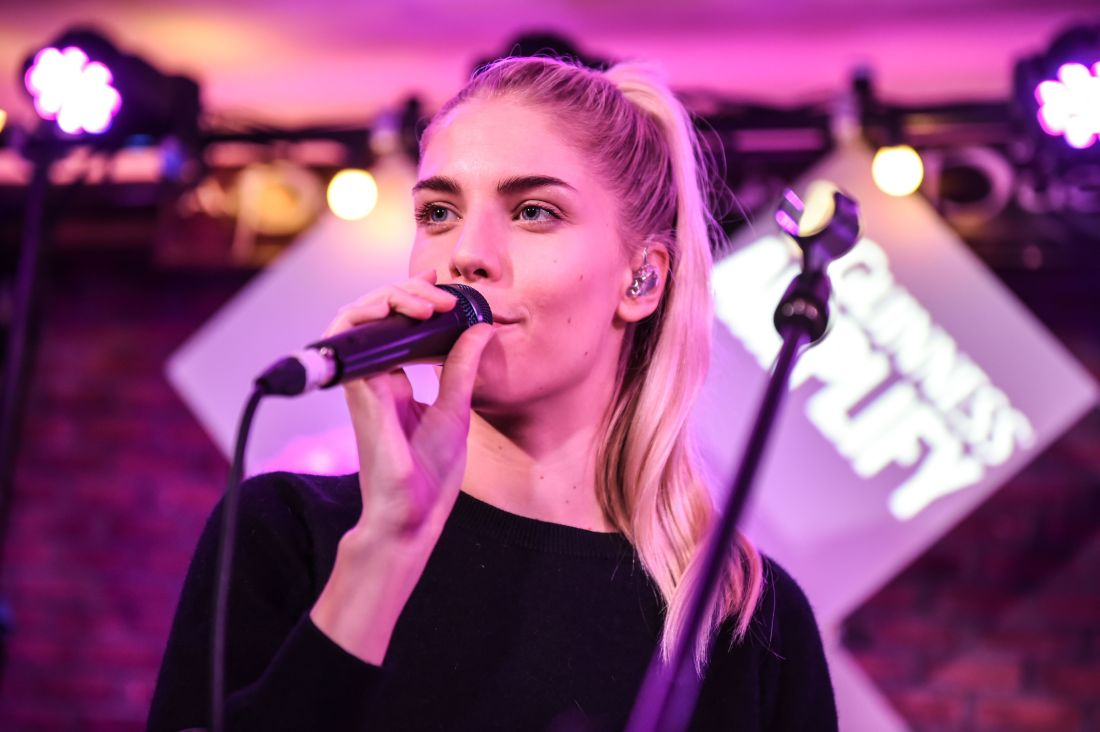 London Grammar Pictured here today at An Pucan, Co. Galway is Kodaline, London Grammar and Dan Croll. Artists performed a surprise gig to fans in the pub as part of Guinness Amplify Live.