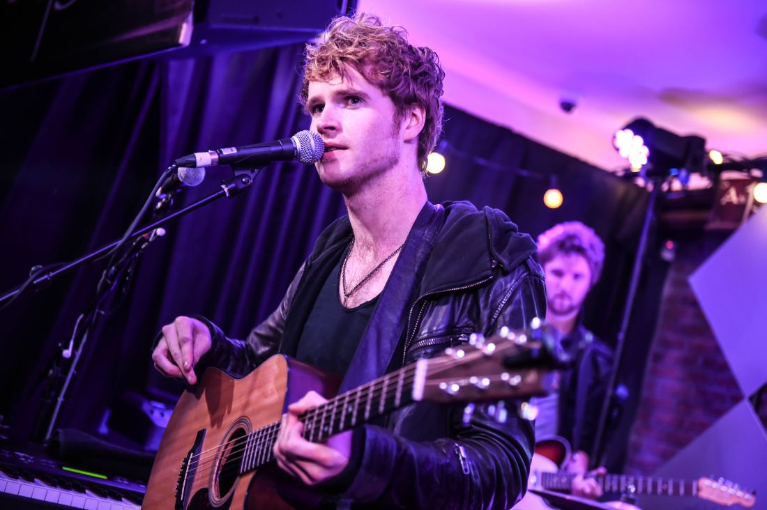 Kodaline Pictured here today at An Pucan, Co. Galway is Kodaline, London Grammar and Dan Croll. Artists performed a surprise gig to fans in the pub as part of Guinness Amplify Live.