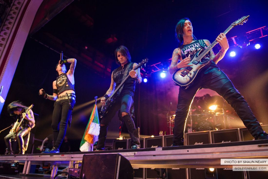 Black Veil Brides at The Olympia Theatre, Dublin on October 15th 2014 by Shaun Neary-01