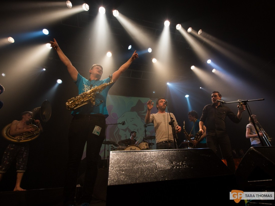 Booka Brass Band with Richie Egan – Vicar Street – Dublin – Tara Thomas