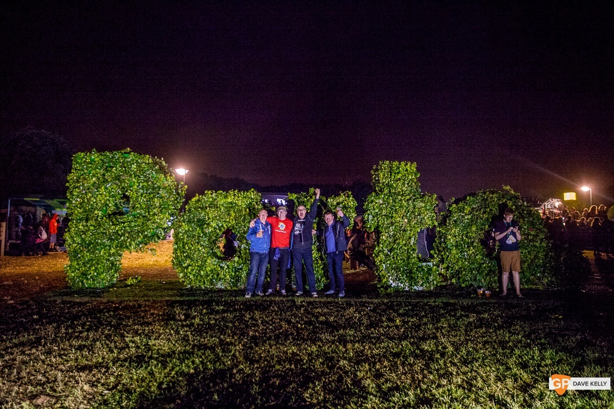People in front of Porto hedge at NOS Primavera Sound, Porto by David Kelly