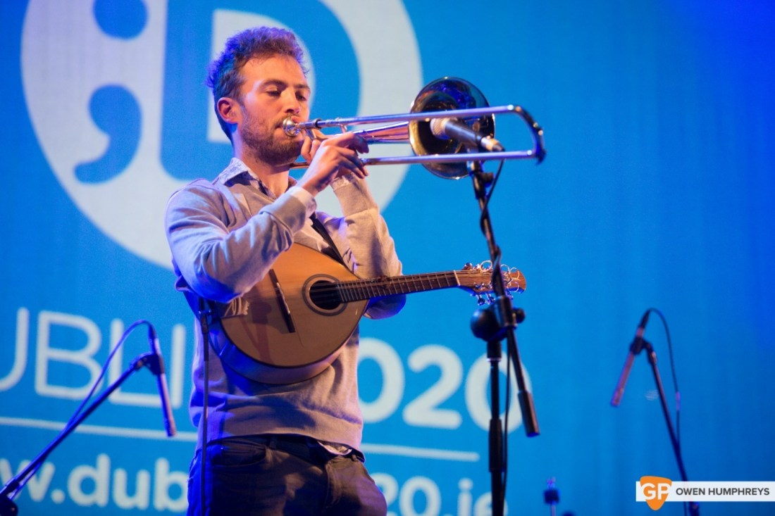 Anderson live at Dublin 2020 in Meetinghouse Square, photo by Owen Humphreys