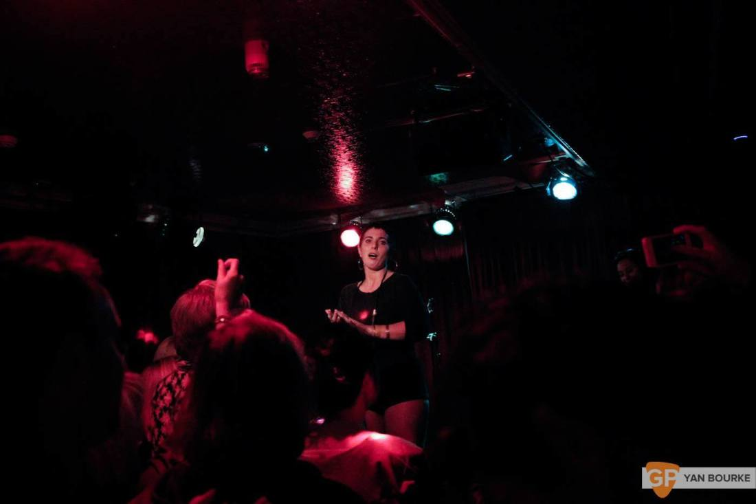 U.S. Girls Upstairs in Whelan's on 25 October 2015 by Yan Bourke