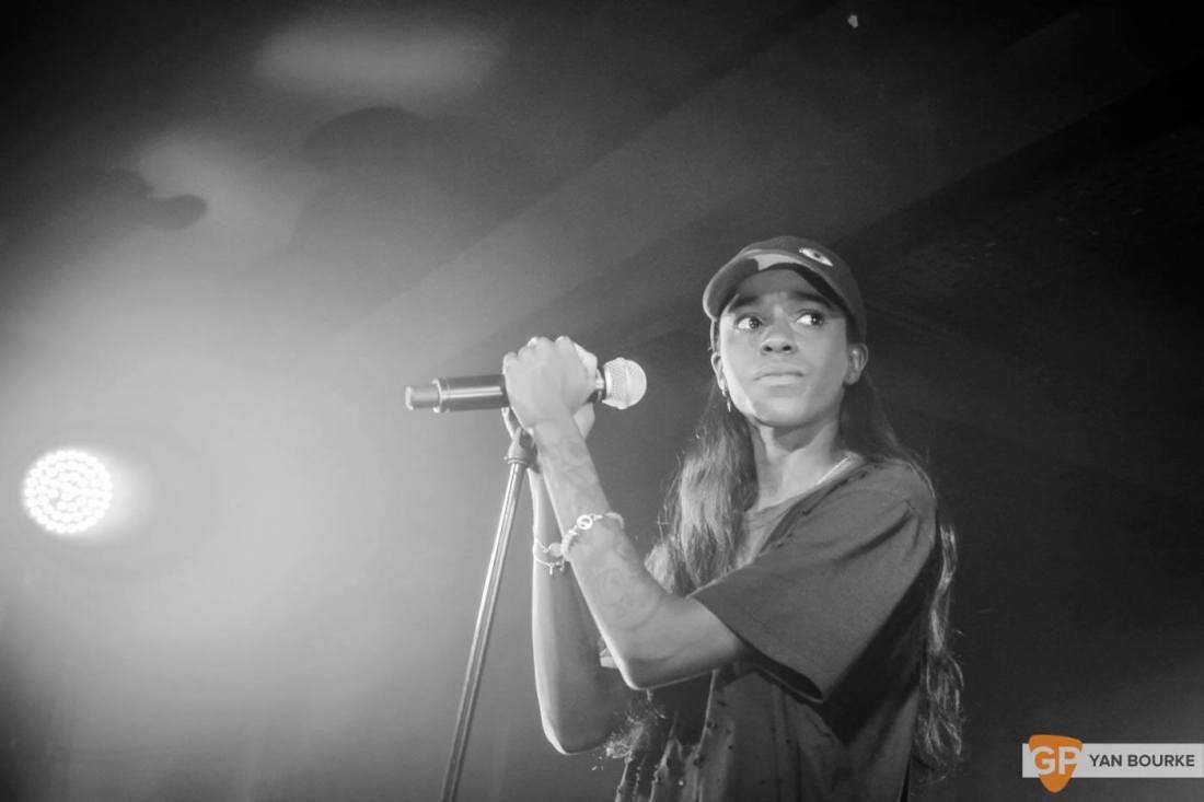 Angel Haze in the Academy Green Room on 15 January 2016 by Yan Bourke
