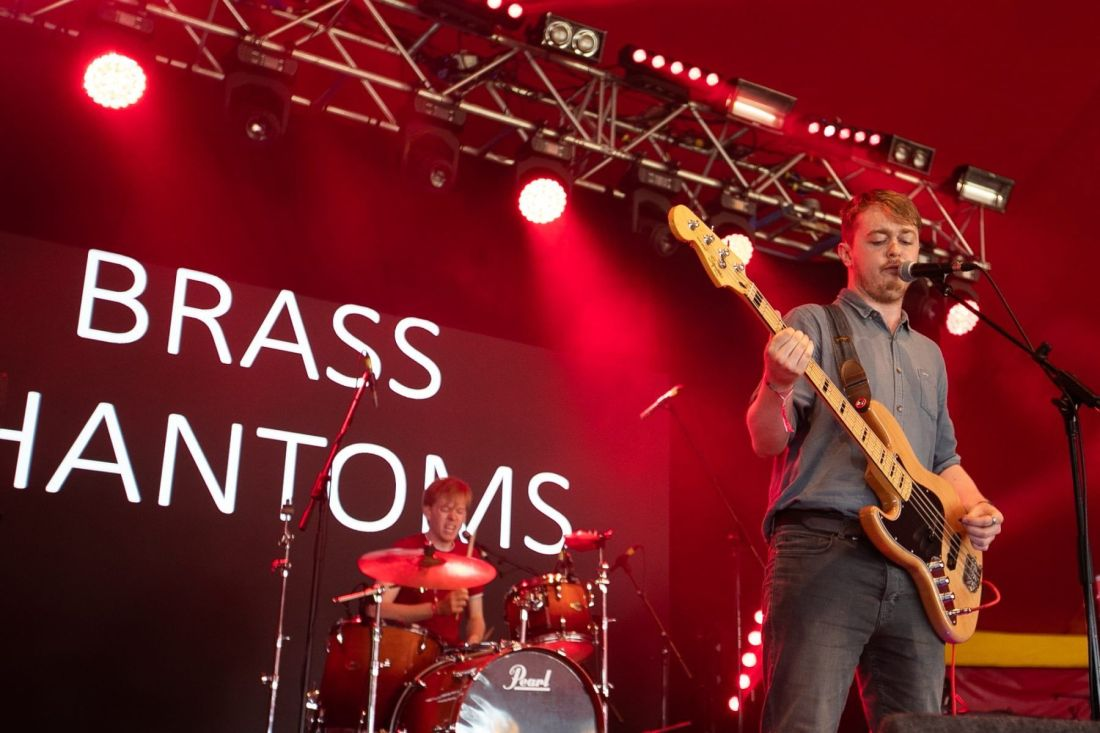 Brass Phantoms perform at Indiependence 2018 by Kieran Frost