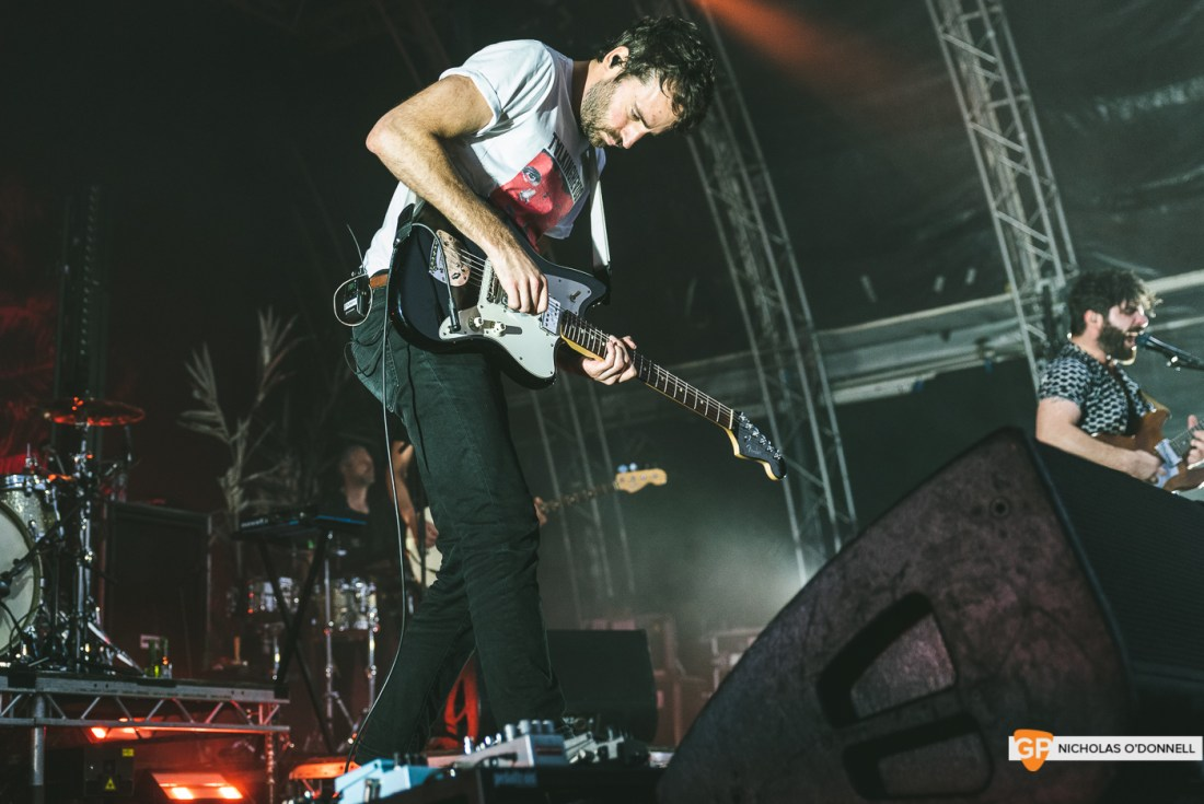 Foals performing at the Summer Series in Trinity College. Photographs by Nicholas O'Donnell. (1 of 19)