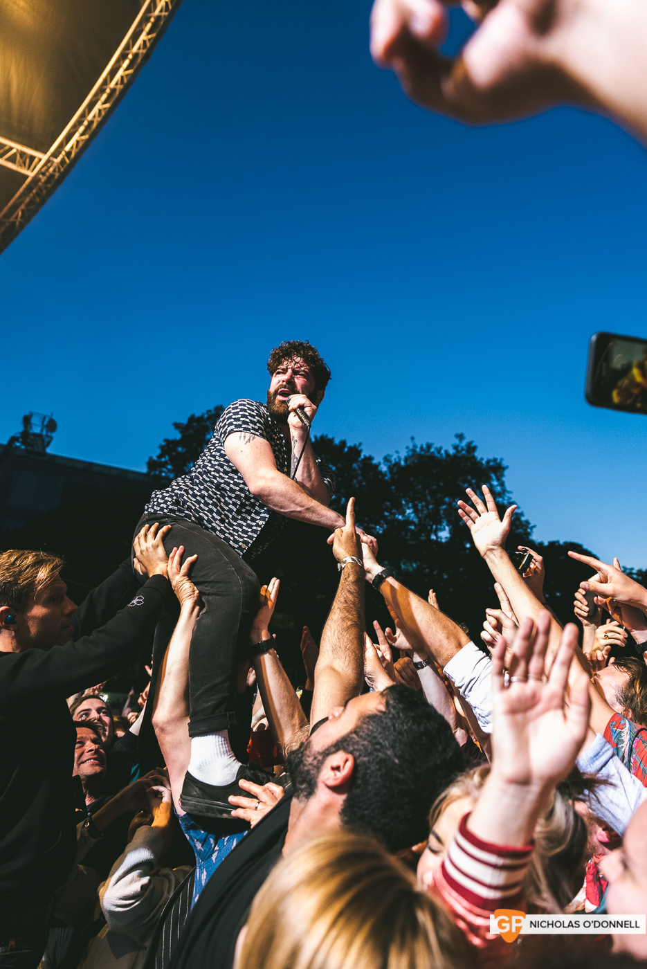Foals performing at the Summer Series in Trinity College. Photographs by Nicholas O'Donnell. (14 of 19)