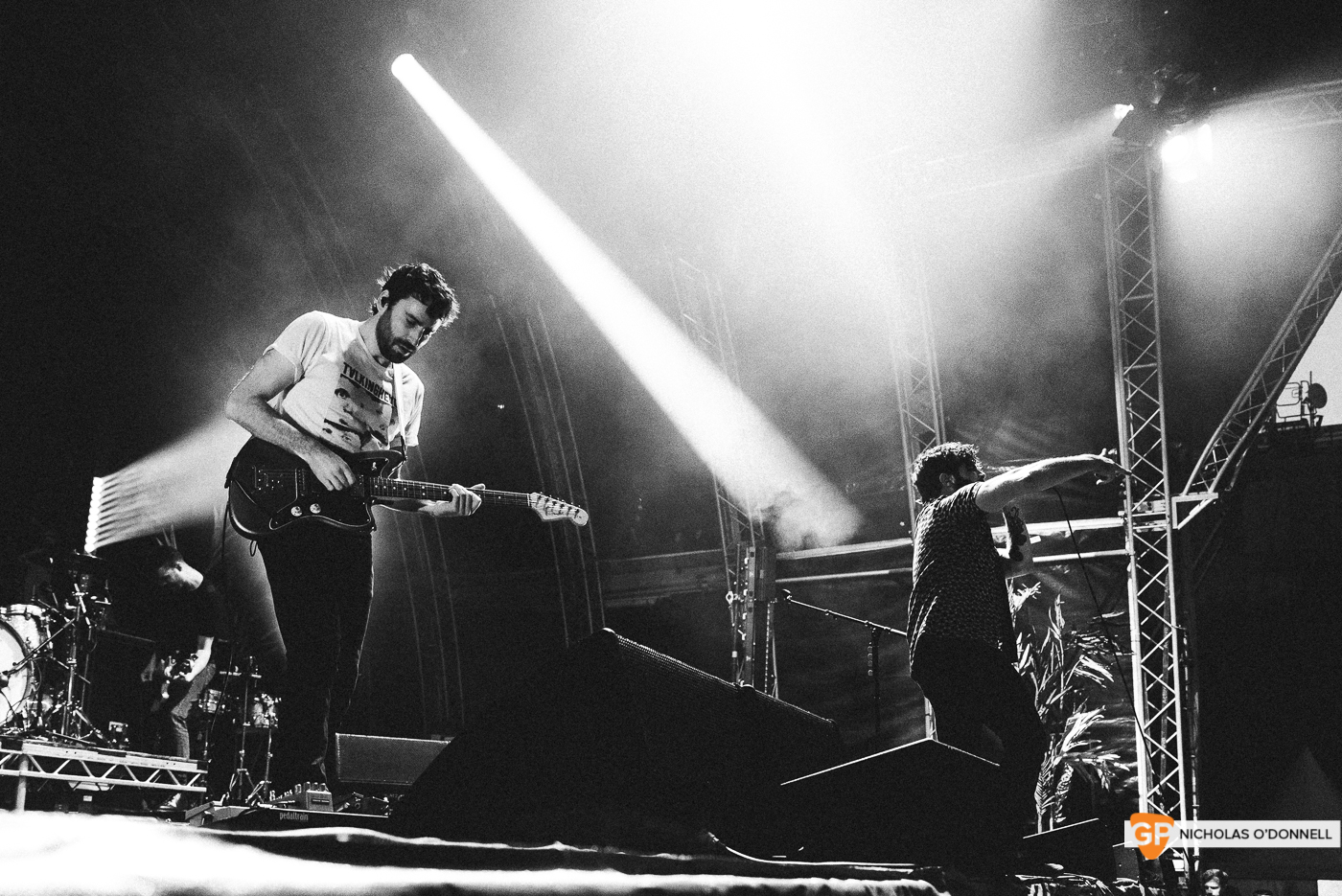 Foals performing at the Summer Series in Trinity College. Photographs by Nicholas O'Donnell. (17 of 19)