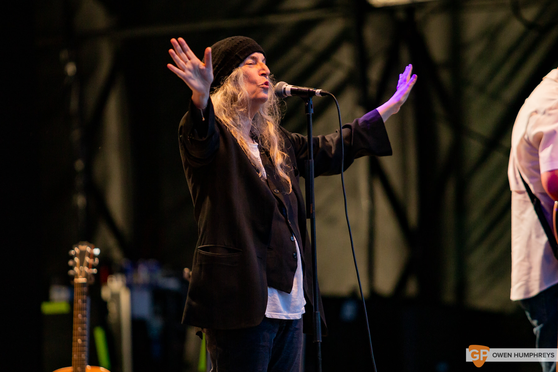 Patti Smith at All Together Now 2019. Photo by Owen Humphreys. www.owen.ie