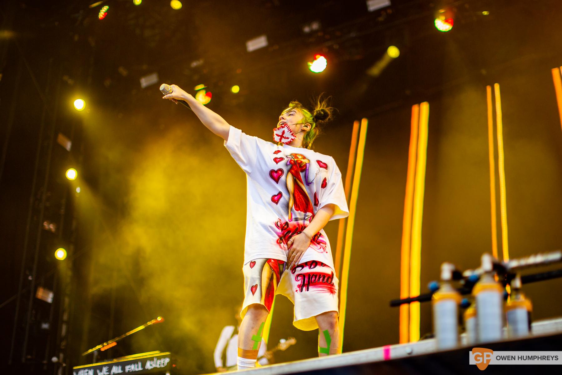 Billie Eilish at Electric Picnic 2019. Photo by Owen Humphreys. www.owen.ie