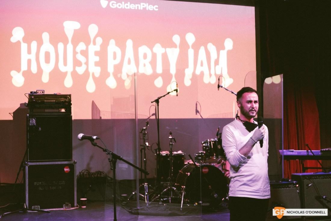 Pictured; Ros Madigan at GoldenPlec Jam Session in The Sugar Club
