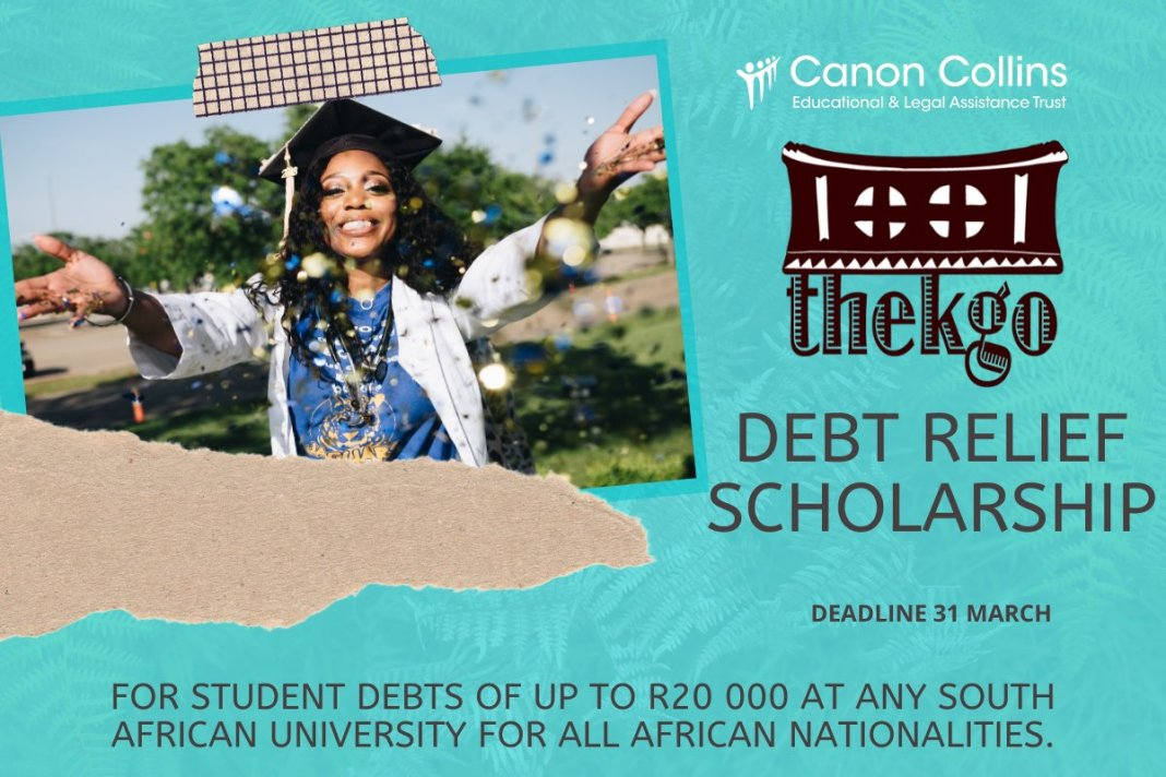Canon Collins Thekgo Debt Relief Bursaries 2021 for African Students in South African Universities