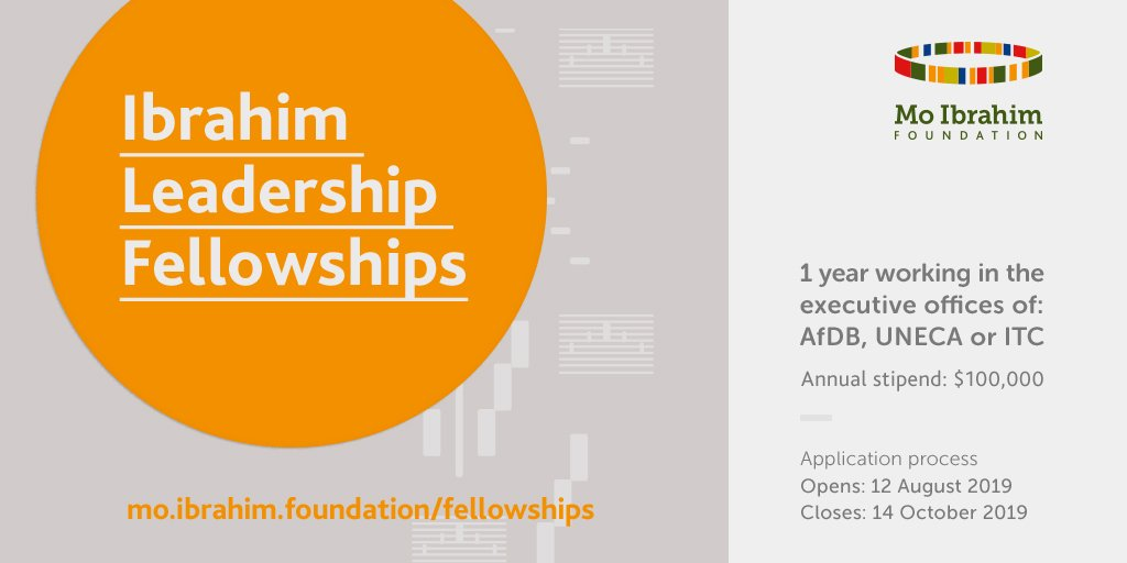 MO IBRAHIM Foundation Leadership Fellowship Program 2021 for African Leaders
