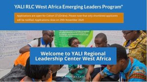 YALI RLC West Africa Emerging Leaders Program 2021 for Young Africans