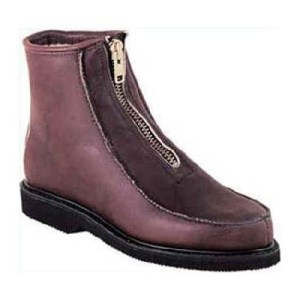 Double-H Boots | 6 Inch Insulated Front Zip Stadium Boot - Walnut  $186