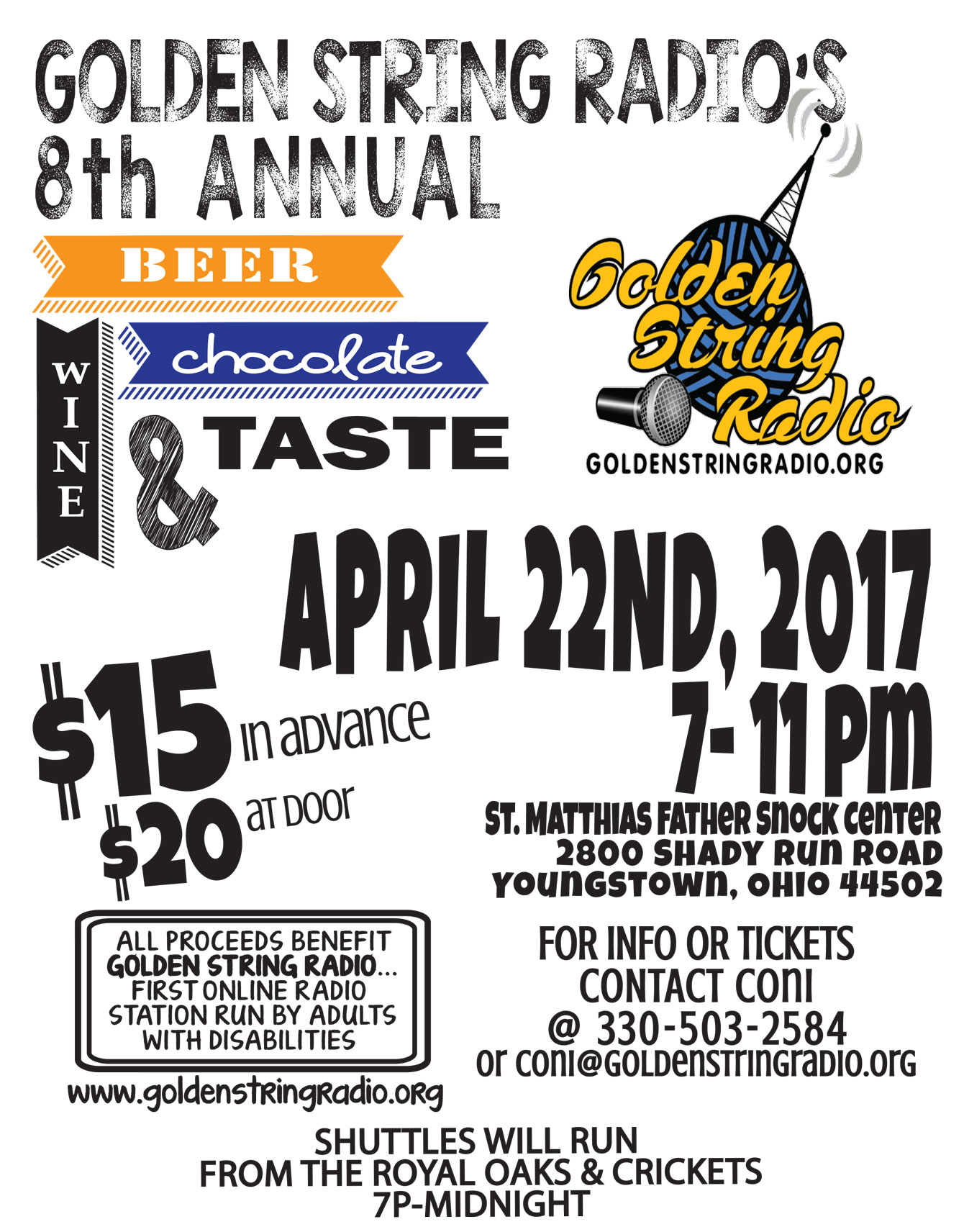 Golden String Radio's 8th Annual Beer, Wine & Chocolate Taste