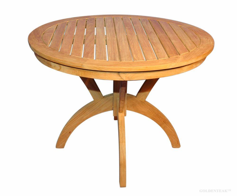 teak round pedestal table 36 inch dia root design