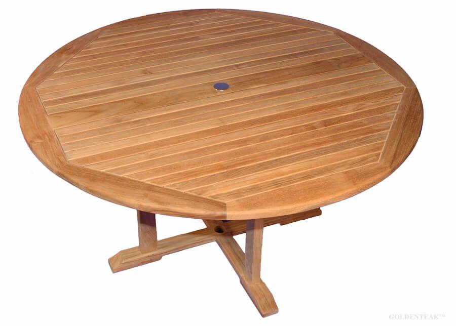 teak dining table padua round 60 inch dia