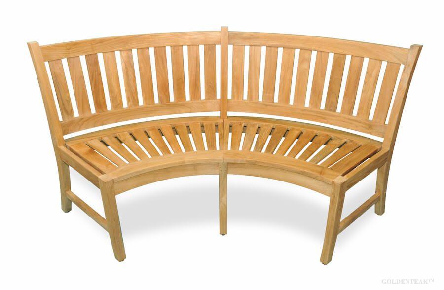 curved teak bench 5ft estate collection premium teak