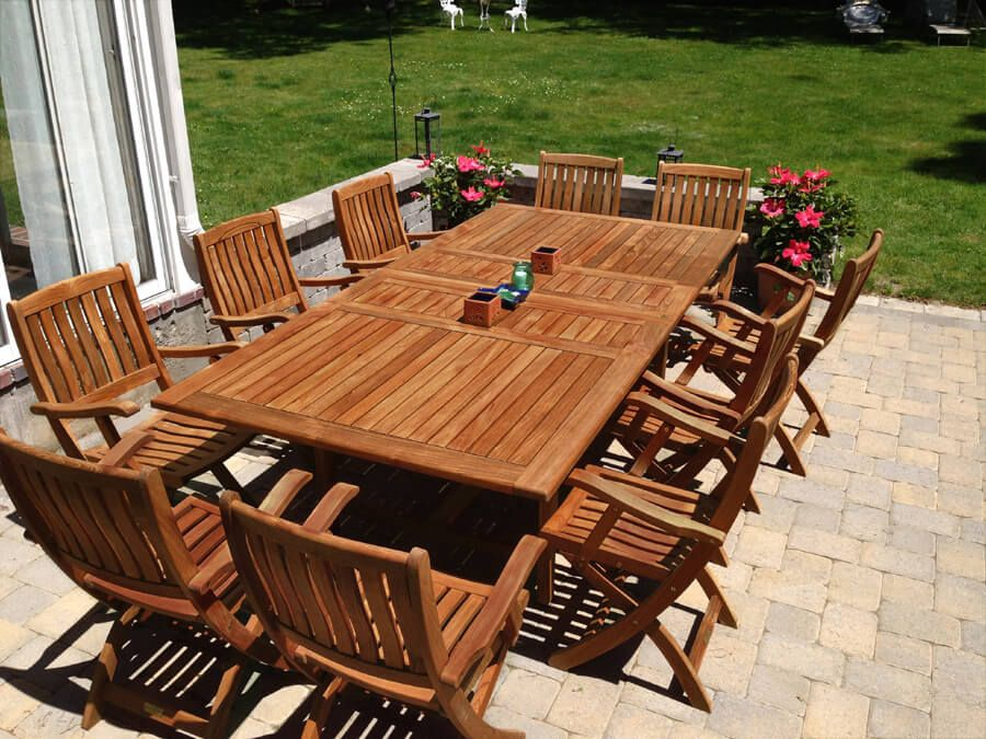teak outdoor dining table and chairs set tuscan 1 premium teak