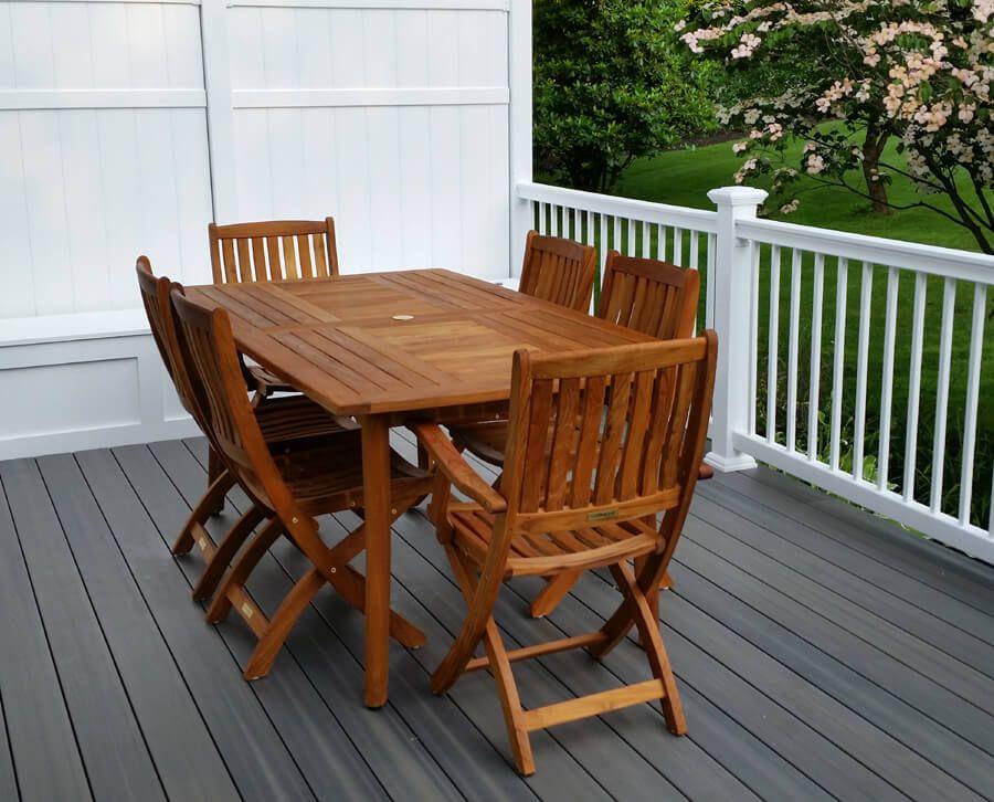 teak patio dining set manhattan