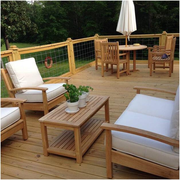 teak outdoor furniture in texas