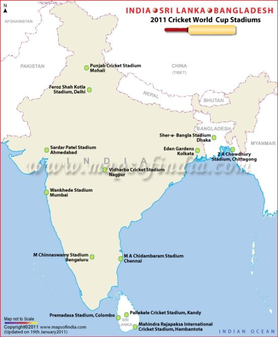 India, Bangladesh and Sri Lanka Map