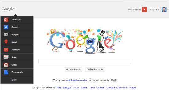 New Year Eve Google Doodle