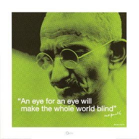Gandhi: Eye for an Eye