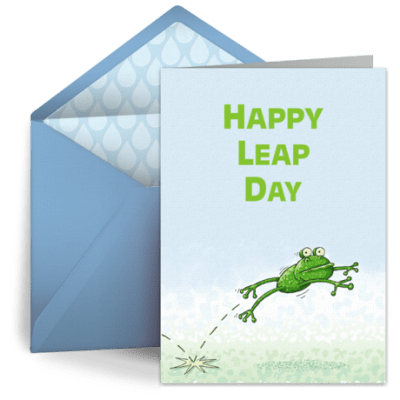 Leap Day Frog
