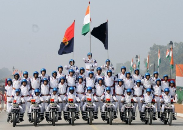 Stunts of motorbike riders of BSF