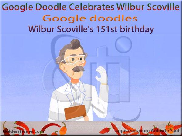 151st Birth Anniversary of Wilbur Scoville