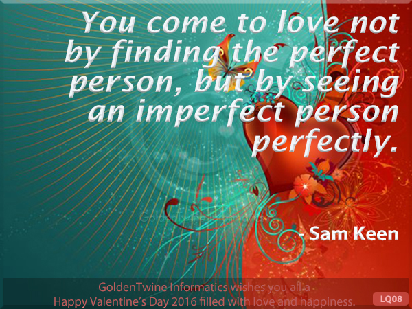 Picture Love Quote - Sam Keen