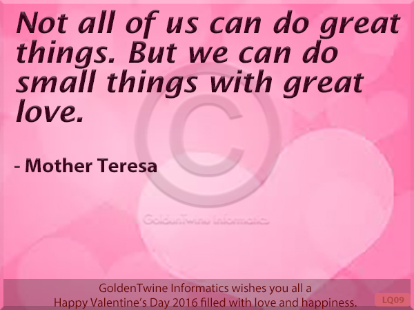 Picture Love Quote - Mother Teresa
