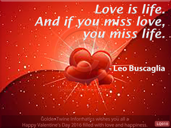 Picture Love Quote - Leo Buscaglia