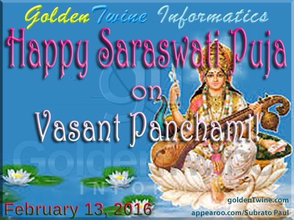 Happy Saraswati Puja on Vasant Panchami
