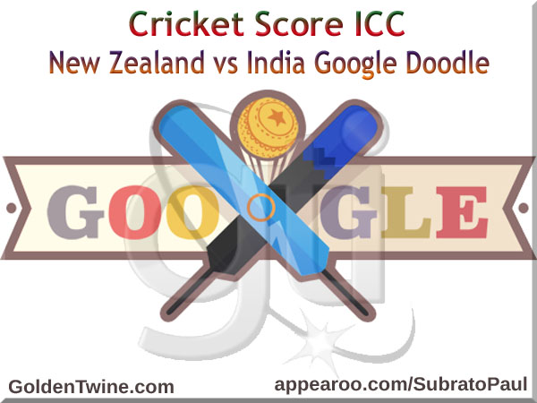 Cricket Score ICC - New Zealand vs India Google Doodle