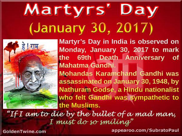 69th Death Anniversary of Mahatma Gandhi