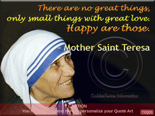 Mother Teresa Quote 1
