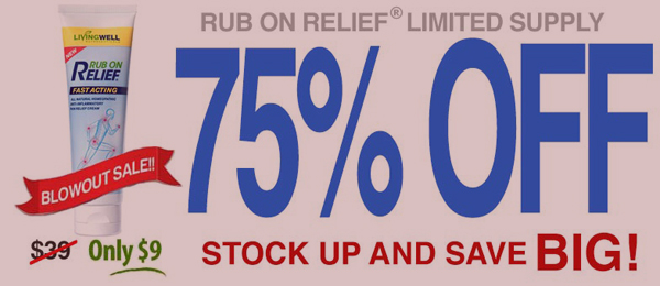 Rub On Relief for 75% Off Today