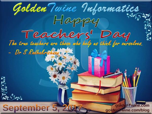 Happy Teachers' Day 2017 in India