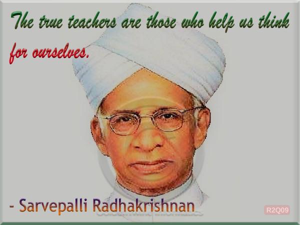Sarvepalli Radhakrishnan Quote 9
