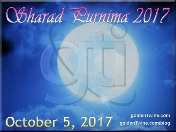 Indian Festival of Sharad Purnima 2017