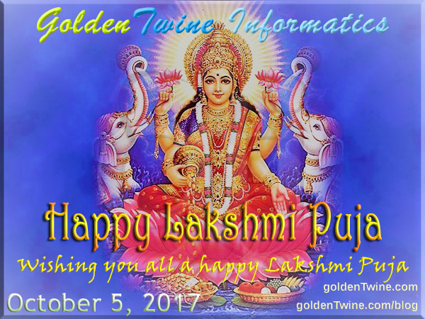 Happy Sharad Purnima and Lakshmi Puja 2017
