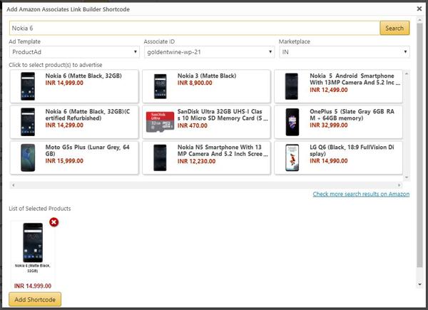 Amazon Associates Link Builder Plugin | GoldenTwine Informatics Blog