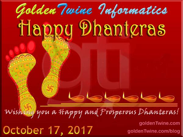 Happy and Prosperous Dhanteras 2017