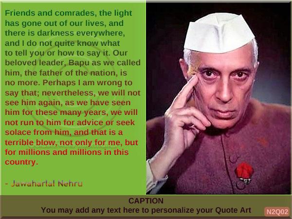 Jawaharlal Nehru Quote N2Q02