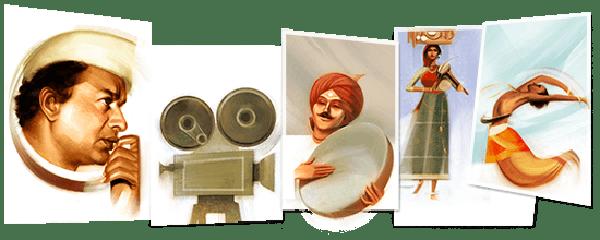 V Shantaram's 116th Birthday Google Doodle